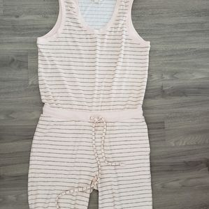 Cloth & Stone peach striped jumpsuit